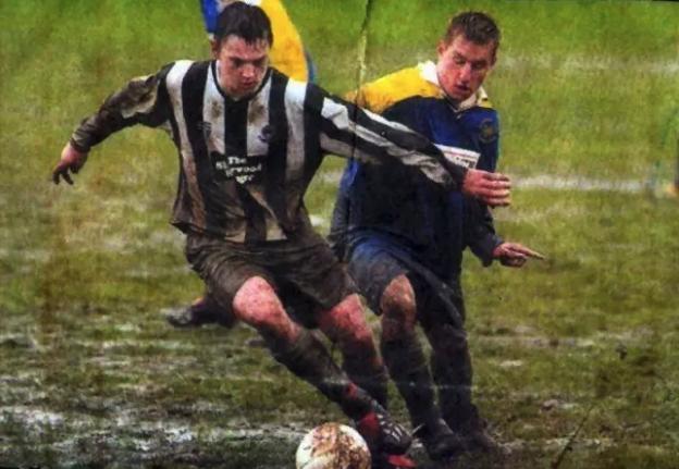 Sam Trickett ai tempi del calcio